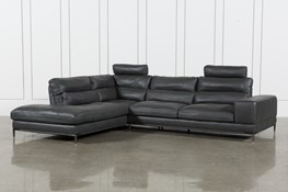 Tenny Dark Grey 2 Piece Laf Chaise Sectional W/2 Headrest