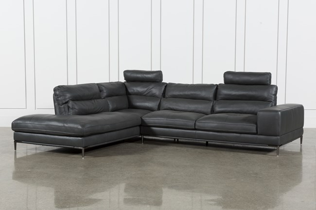 Tenny Dark Grey 2 Piece Laf Chaise Sectional W/2 Headrest - 360