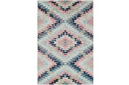 "5'3""x7'3"" Youth Rug-Wonderland Aztec Pink/Blue"