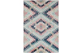 63X87 Youth Rug-Wonderland Aztec Pink/Blue