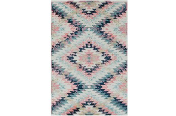 63X87 Youth Rug-Wonderland Aztec Pink/Blue