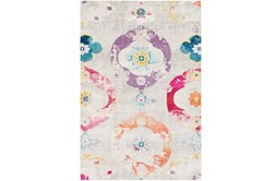"5'3""x7'5"" Youth Rug-Whimsy Flowers Multi"