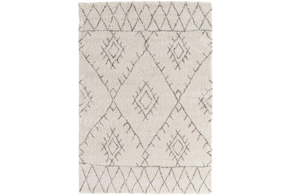 63X91 Youth Rug-Ivory/Grey Pattern Shag
