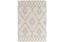 "5'3""x7'6"" Youth Rug-Ivory/Grey Pattern Shag"