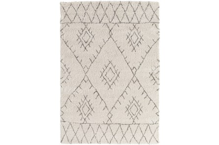 63X91 Youth Rug-Ivory/Grey Pattern Shag
