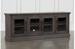 Wakefield 85 Inch TV Stand With Glass Doors
