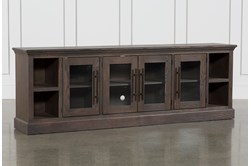 Wakefield 97 Inch TV Stand With Glass Doors