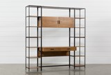 Hollis 3 Piece Desk With 17 Inch Bookcase Piers - Signature