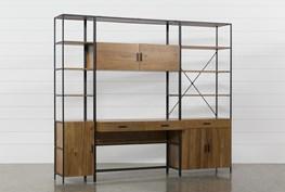 Hollis 3 Piece Desk With Wide + Narrow Cabinet Piers