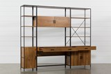 Hollis 3 Piece Desk With 33 & 17 Inch Cabinet Piers - Storage