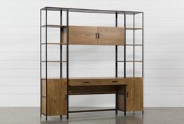 Hollis 3 Piece Desk With Narrow Cabinet Piers