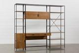 Hollis 3 Piece Desk With 17 Inch Cabinet & 33 Inch Bookcase Pier - Signature