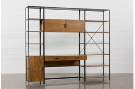 Hollis 3 Piece Desk With 17 Inch Cabinet & 33 Inch Bookcase Pier