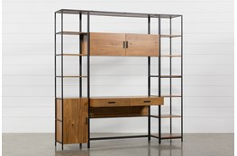 Hollis 3 Piece Desk With 17 Inch Cabinet & 17 Inch Bookcase Pier