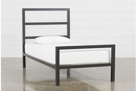 Orson Graphite Twin Panel Bed