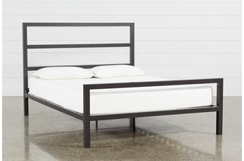 Orson Graphite California King Panel Bed