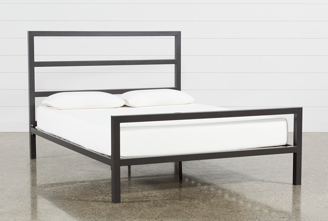 Orson Graphite California King Panel Bed - 360