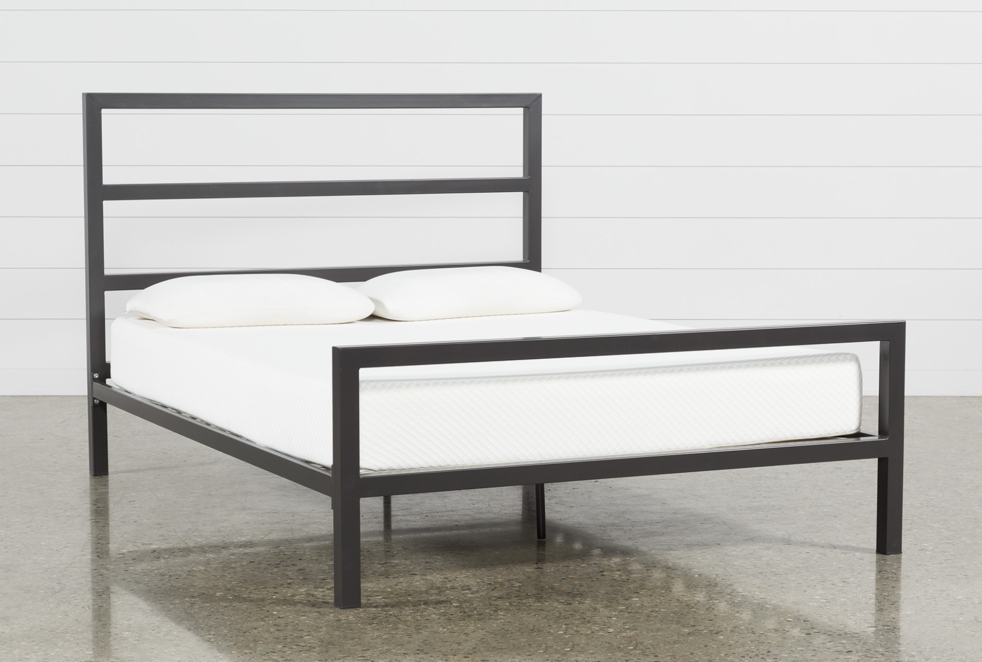 Orson Graphite California King Panel Bed