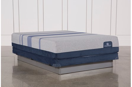 Blue Max 1000 Cushion Firm Queen Mattress W/Low Profile Foundation - Main