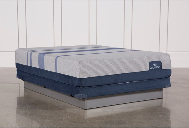 Blue Max 1000 Cushion Firm Eastern King Mattress W/Low Profile Foundation - 360