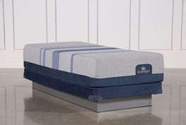 Blue Max 1000 Cushion Firm Eastern King Mattress W/Low Profile Foundation