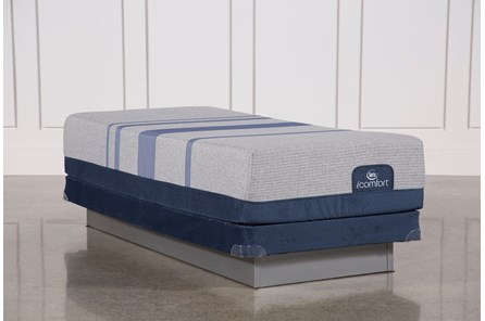 Blue Max 1000 Cushion Firm Eastern King Mattress W/Low Profile Foundation - Main
