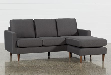 David Dark Grey Reversible Sofa Chaise