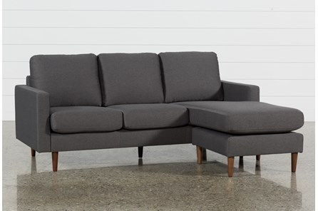 David Dark Grey Reversible Sofa Chaise - Main