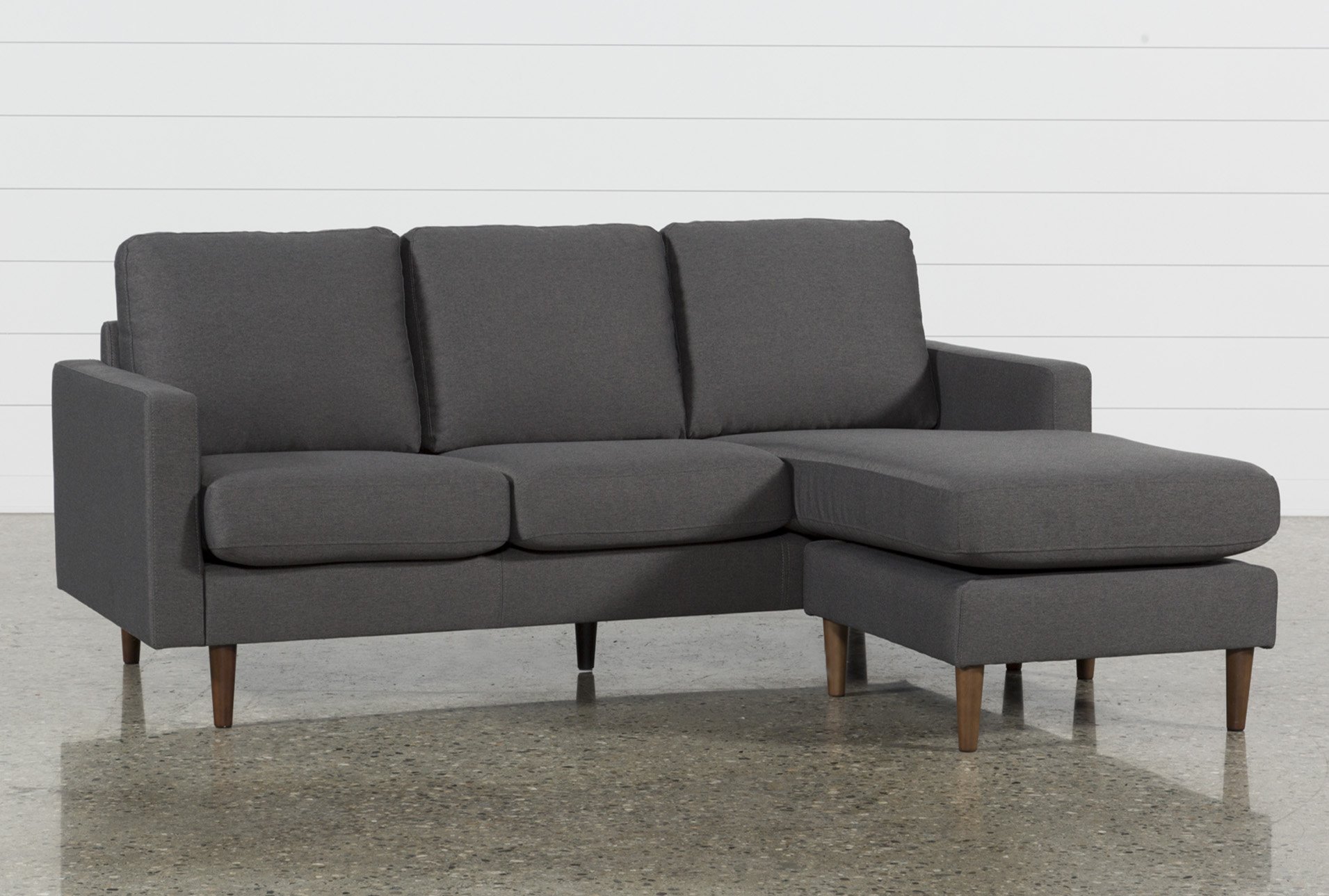David Dark Grey Reversible Sofa Chaise   360