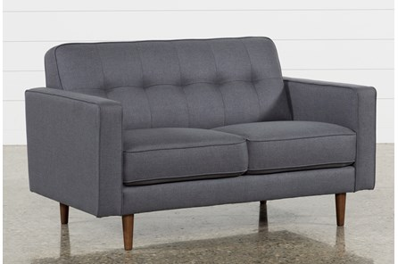 London Dark Grey Loveseat - Main