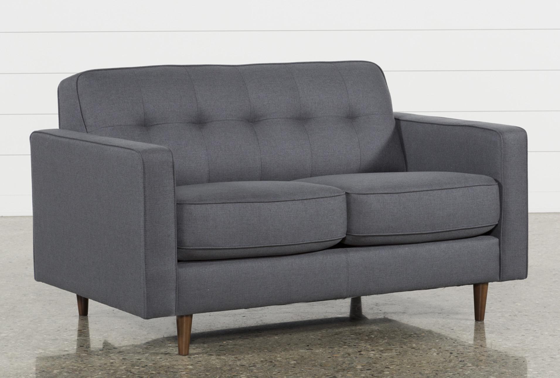 - London Dark Grey Twin Plus Sleeper Sofa Living Spaces