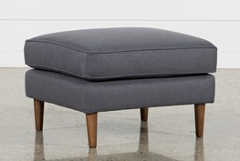 London Dark Grey Ottoman