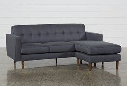 London Dark Grey Reversible Sofa Chaise