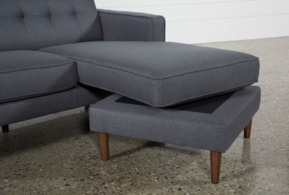 London Dark Grey Reversible Sofa Chaise