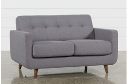 "Allie Dark Grey 66"" Loveseat"