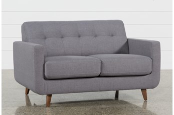 Allie Dark Grey Loveseat