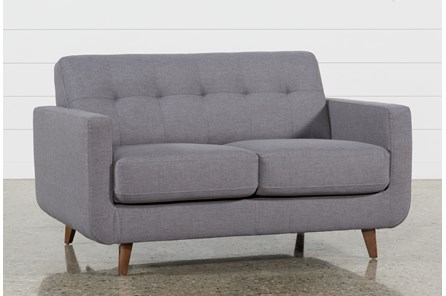 Allie Dark Grey Loveseat - Main