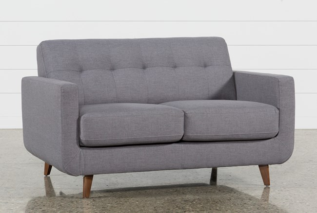 Allie Dark Grey Loveseat - 360