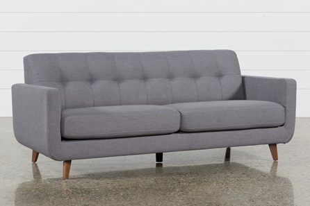 Allie Dark Grey Sofa Living Spaces
