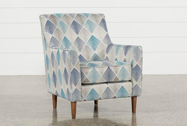 Sven Denim Accent Chair - 360