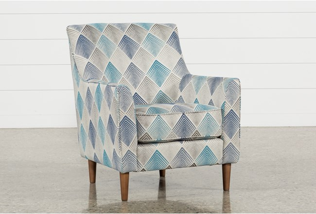 Sven Denim Accent Chair - 360