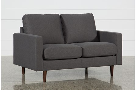 David Dark Grey Loveseat - Main