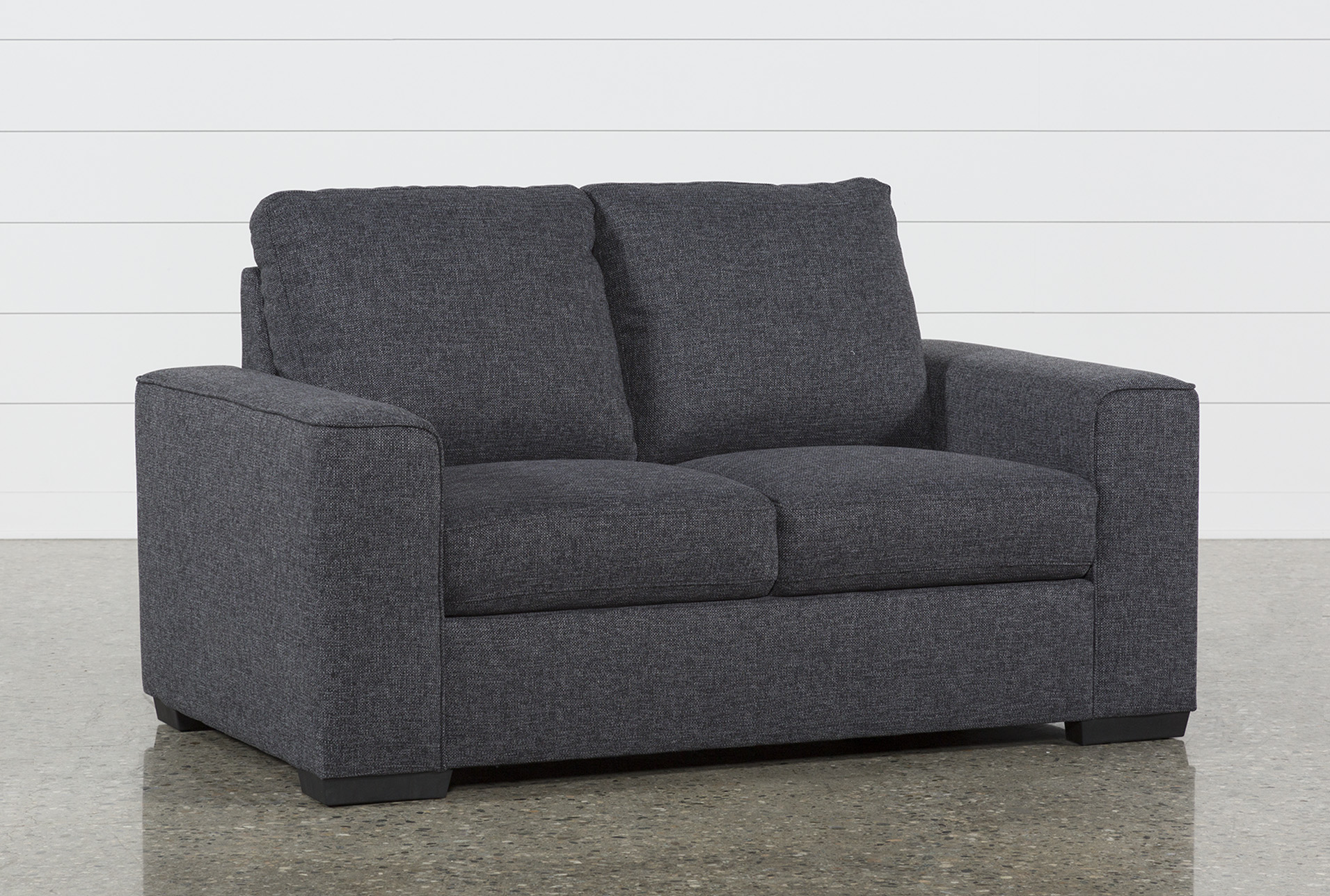 Picture of: Lucy Dark Grey 61 Loveseat Living Spaces