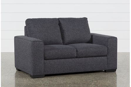 Lucy Dark Grey Loveseat - Main