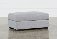 Lucy Grey Storage Cocktail Ottoman