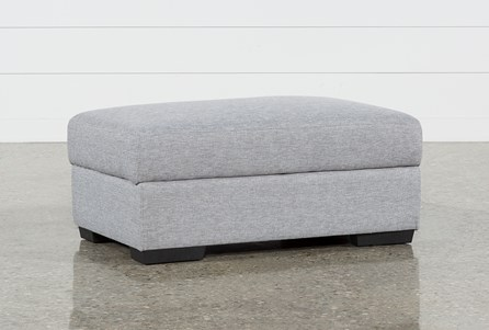 Lucy Grey Cocktail Storage Ottoman