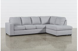 "Lucy Grey 2 Piece 114"" Sectional with Right Arm Facing Chaise"