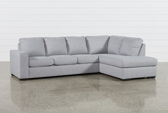 """Lucy Grey 2 Piece 114"""" Sectional with Right Arm Facing Chaise"""
