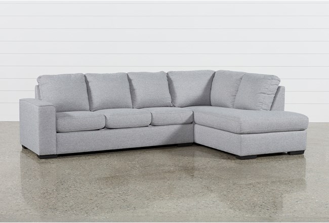 Lucy Grey 2 Piece Sectional with Right Arm Facing Chaise - 360
