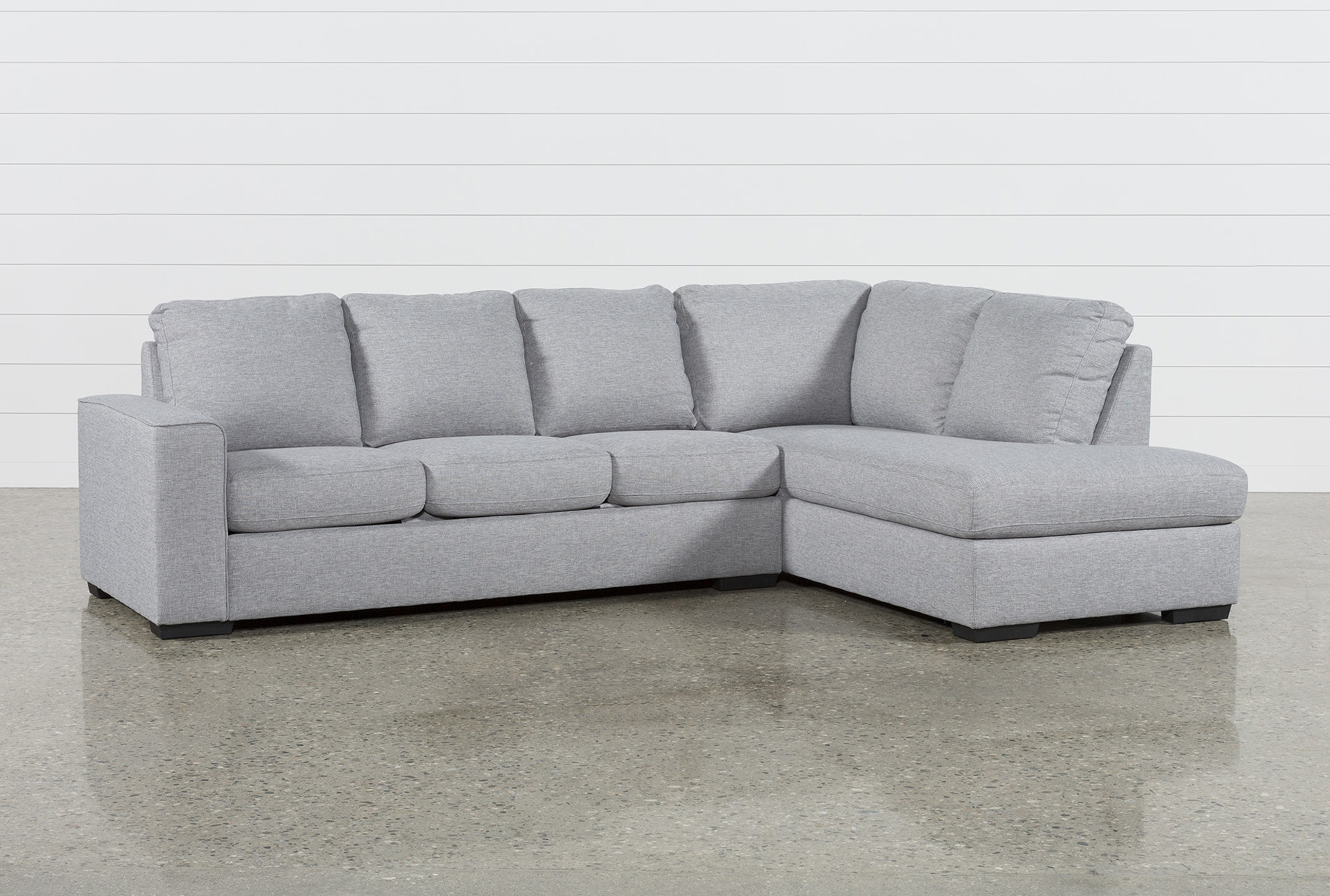 Lucy Grey 2 Piece Sectional W/Raf Chaise